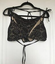 """""""Lepel"""" Black/Nude Summer Days Bikini, Size 14/16, Side Ties, Removable Cups"""