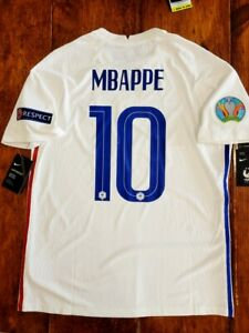2020/21 Nike France #10 Mbappe Euro2020 Vaporknit Away Soccer Jersey CD0599-100