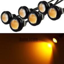 6pcs 3W Amber COB LED Eagle Eye Daytime Running DRL Tail Backup Light Car Motor