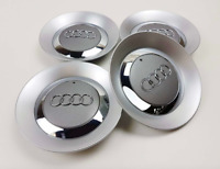 4 x 150mm Alufelgen Felgendeckel Nabenkappen Silver Grau Cap AUDI 8E0601165