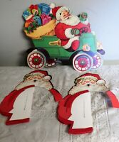 Vtg Beistle Tissue Art Honeycomb Fold Out Decoration Christmas Window poster