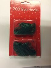 200 Green wire Christmas Tree decoration hooks FREE DELIVERY UK