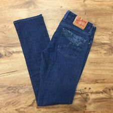 Lucky Brand Dungarees Pasha Lola Straight Jeans Stretch Denim Women's 28 W30 L31