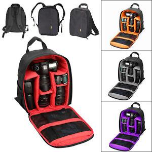 Travel SLR DSLR Camera Bag Backpack Rucksack Waterproof for Sony Canon Nikon UK
