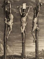 BOLSWERT RUBENS FLEMISH CHRIST CRUCIFIED TWO THIEVES ART PAINTING POSTER BB5020A
