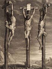 Bolswert Rubens flamenca Cristo Crucificado dos ladrones Arte Pintura Cartel bb5020a