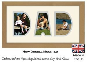 Dad Photo Frame Word Name Letters Frame Fathers Day Birthday Photos in a Word