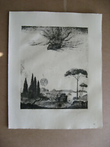 Ernst  Fuchs  ; Original - Radierung ;  handsigniert