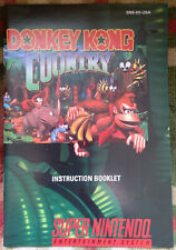 Official vintage Donkey Kong Country instruction manual booklet Nintendo SNES