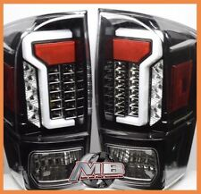 for 16 17 18 Toyota Tacoma TRD SR SR5 Fiber Optic LED Tail Lights Black Clear