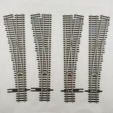 (4) Shinohara Track HO Scale Code 83 Left Hand & Right Hand Switches / Turnouts