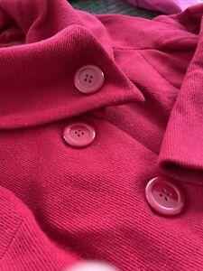Monsoon ladies red coat size 18