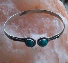 Witch Enchanted Silver Plated Blue Stone Bracelet King Marid Djinn Power Spirit