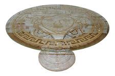 Runder Glastisch Marmortisch Couchtisch Wohnzimmertisch Steinmöbel Versa Serie