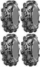 Four 4 CST Sludge Hammer ATV Tires Set 2 Front 27x10-14 & 2 Rear 27x10-14 CU98