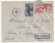 LETTRE COTE D IVOIRE POUR BEZIER 1949  PAR AVION