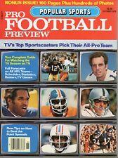 1979 Popular Sports Pro Football Preview magazine, Roger Staubach, Walter Payton