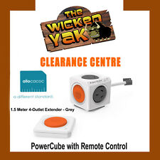 PowerCube 1.5m Remote Control GREY 4 Outlet Extended Powerboard FREE SHIPPING