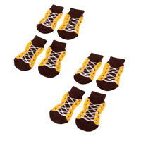 8Pcs Dog Supplies Anti-Slip Dog Socks Pet Paw Protection for Indoor Wear M/L