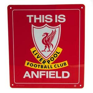 Liverpool FC This is Anfield Metal Football Sign Plaque 23x25cm Gift UK Seller