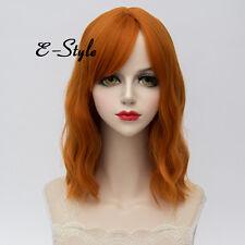 Fashion Orange Curly Lolita Cosplay Heat Resistant 35CM Medium Women Fancy Wig
