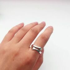 Hug Ring Open Hands Wrap Silver Adjustable Ring Gift