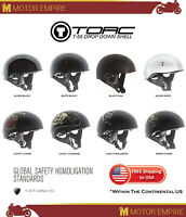 TORC T-55 Half Shell Spec Ops Low Profile Motorcycle Cruiser Helmet DOT XS-2XL