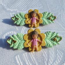 Mini Polly Pocket Little Lulu's Hairslides Haarspangen 1990 Bluebird