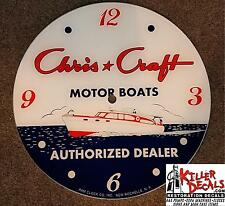 """*NEW*14.25"""" CHRIS CRAFT BOAT DEALER ROUND GLASS FACE FOR PAM CLOCK GASOLINE GAS"""