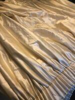 "Absolutely Stunning Rich Cream Silk Curtains Interlined 86""d x 78"""
