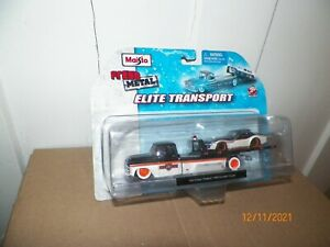1 Maisto FRESH METAL Elite Transport 1957 Chevy Flatbed & 1969 Corvette Coupe