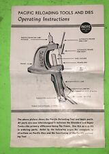 Vintage Pacific Single Stage Press Instructions