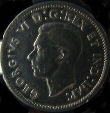 10 Cents Canada 1937 George VI Silver Coin XF High Grade