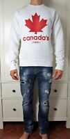 DSQUARED² Canada's Twins White Long Sleeve Sweatshirt Jumper Dean&Dan size Large