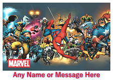 Personalised Kids Childrens A4 Placemat / Dinner Mat With Puzzles Marvel