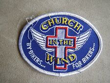 Church In The Wind By Bikers For Bikers Embroidered Patch Midland TX, Hog Riders