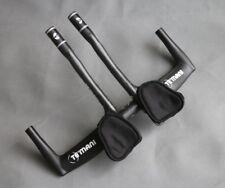 Carbon TT Bullhorn bar 400/420/440 handlebar road bicycle Armrest Aero bar set