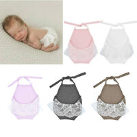 Baby Girl Backless Lace Halter Romper Photography Props Princess Clothes New