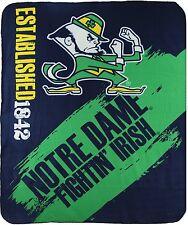 Notre Dame Fightin Irish fleece blanket  throw NEW