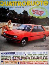 Quattroruote 268 1978 Nuova Peugeot 305. Prove VW Golg GTI. Enzo Ferrari [Q.16]