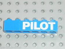 LEGO bateau boat / Briques avec stickers PILOT / 6542 Launch & Load Seaport