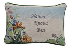 Tapestry Word Throw Pillow Cushion Nana Knows Best Sofa Home Decor