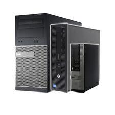 Dell HP i5 4th Gen Quad Desktop SFF 32GB RAM SSD Windows 10 PC Computer WiFi -CR
