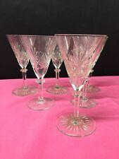 6 verres à vin. Mod. EURYDICE en cristal. H: 130 mm Val Saint Lambert
