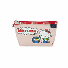 NEW NWT Authentic Lesportsac Hello kitty ANNYEONG Korea Medium Sloan Pouch Pink