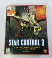 Star Control 3 Windows PC Big Box CD-Rom Game Complete - SEALED DISC