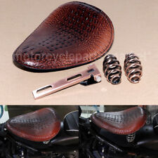 Alligator Motorcycle PU-Leather Solo Driver Seat Kit for Harley Chopper Bobber
