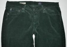 AG Adriano Goldschmied Green Stevie Slm Straight Corduroy Jean Pants 30 X 28 1/4