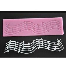 Nota musicale Pizzo Stampo in Silicone Muffa Fondente Tappetino Decorazione Torte Strumento