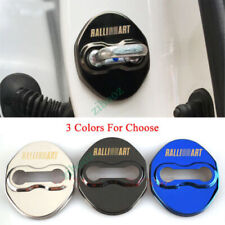 Stainless Steel Car Door Lock Cover Case Protective Stickers For RALLIART Parts